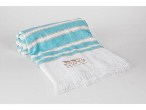 36 x 70 Striped Beach Towel w Fringe and NWTF logo