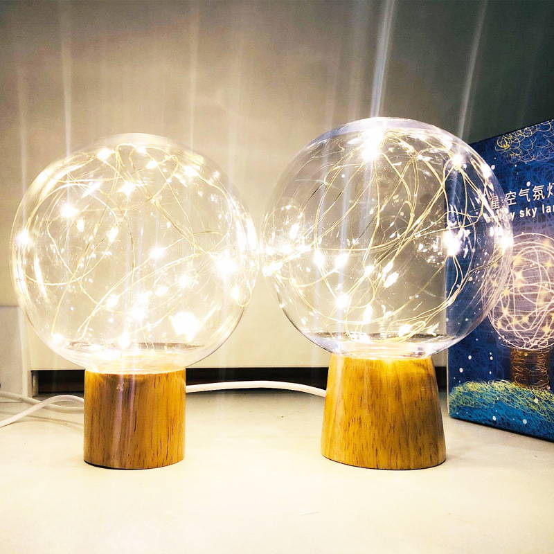 Crystal fairy lights lamp for decorating your home - beautiful fairy lights ambiance for bedroom, living room, kids room or hall