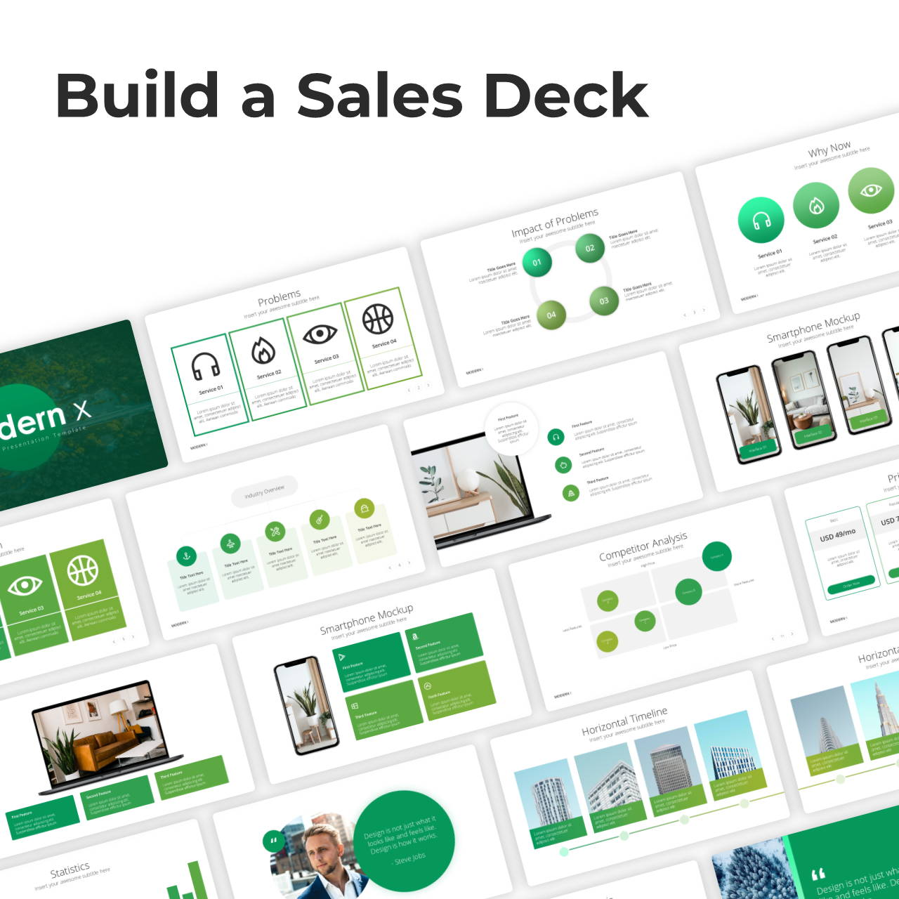 Modern X Sales Deck Presentation Template
