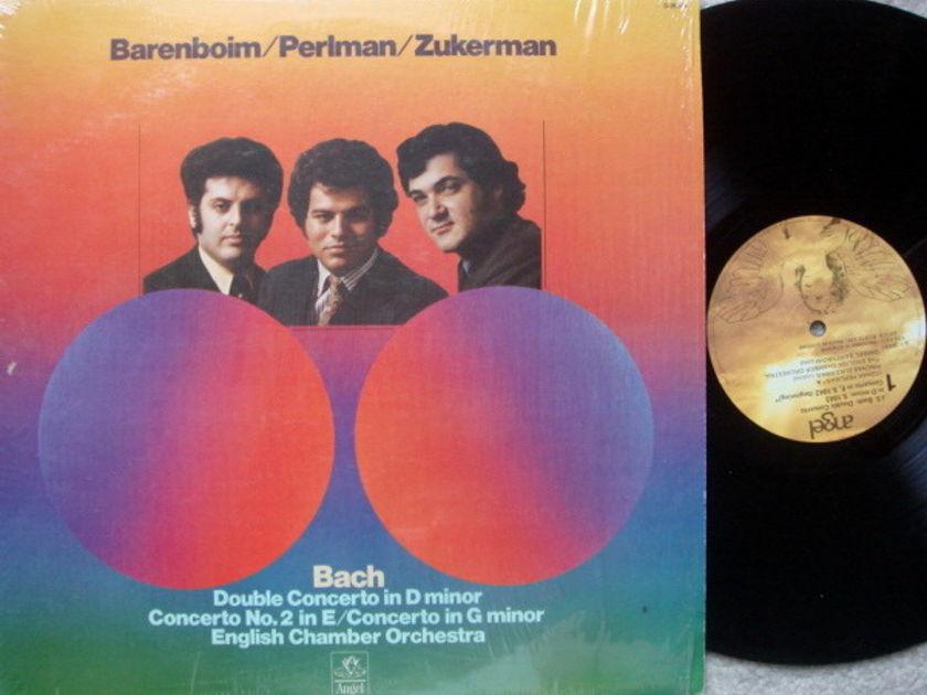 EMI Angel / PERLMAN-ZUKERMAN-BARENBOIM, - Bach Double Concerto, EX!