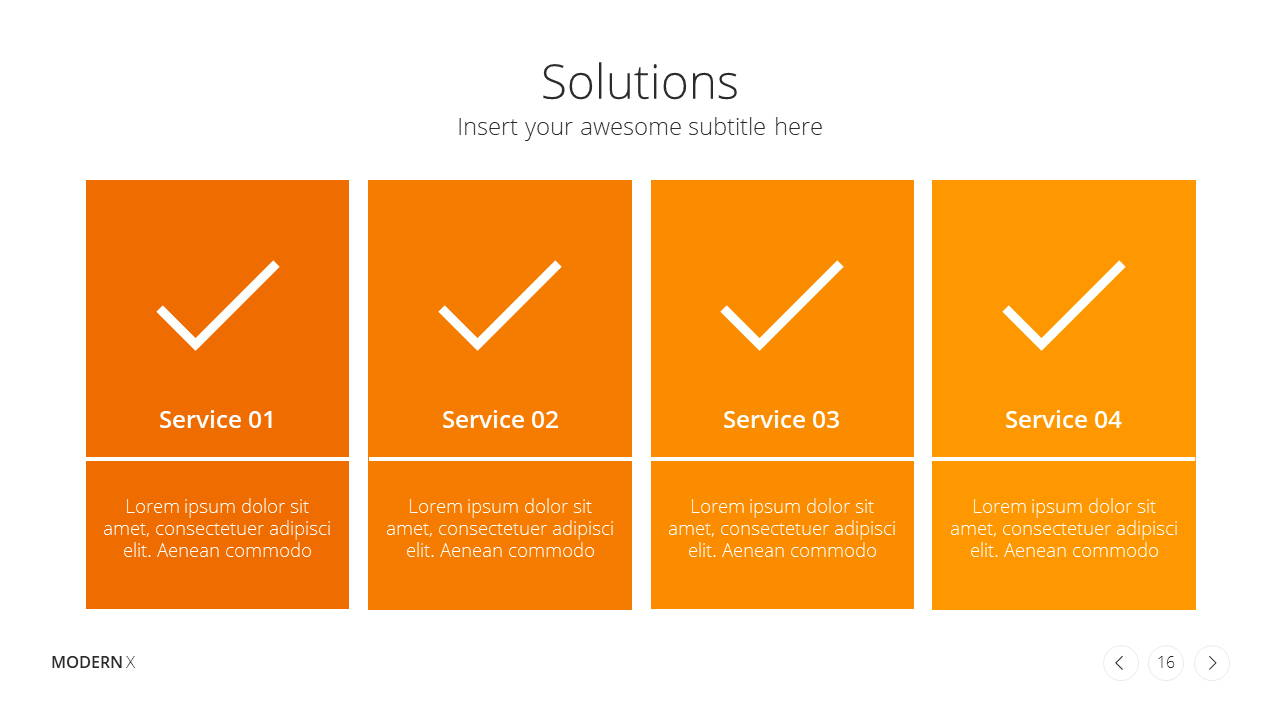 Modern X Presentation Template Business Plan Solutions
