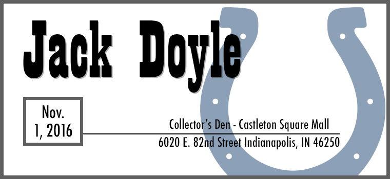 Jack Doyle Autograph Signing