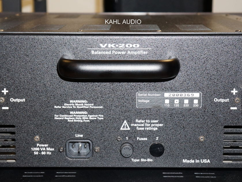 Balanced Audio Technology VK-200 stereo amp. Lots of positive reviews. $3,500 MSRP.