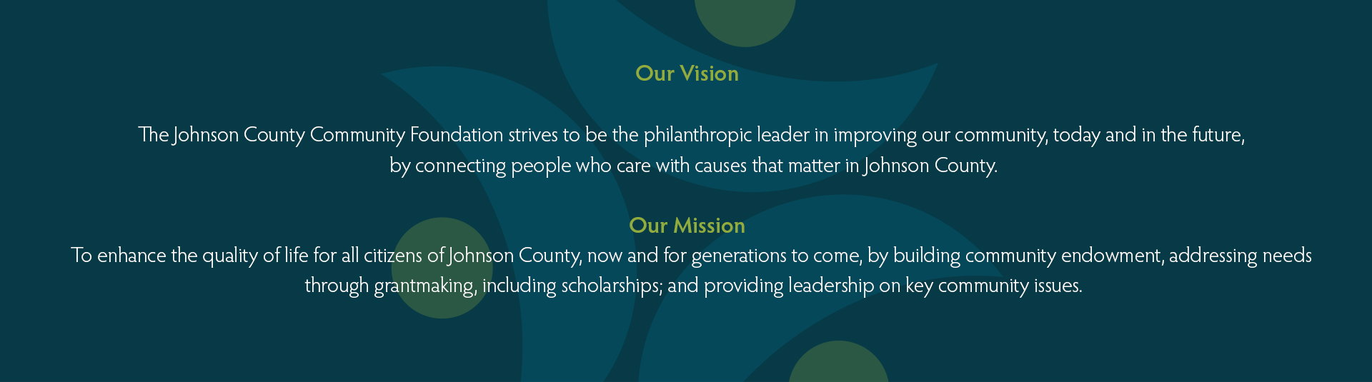 JCCF mission and vision