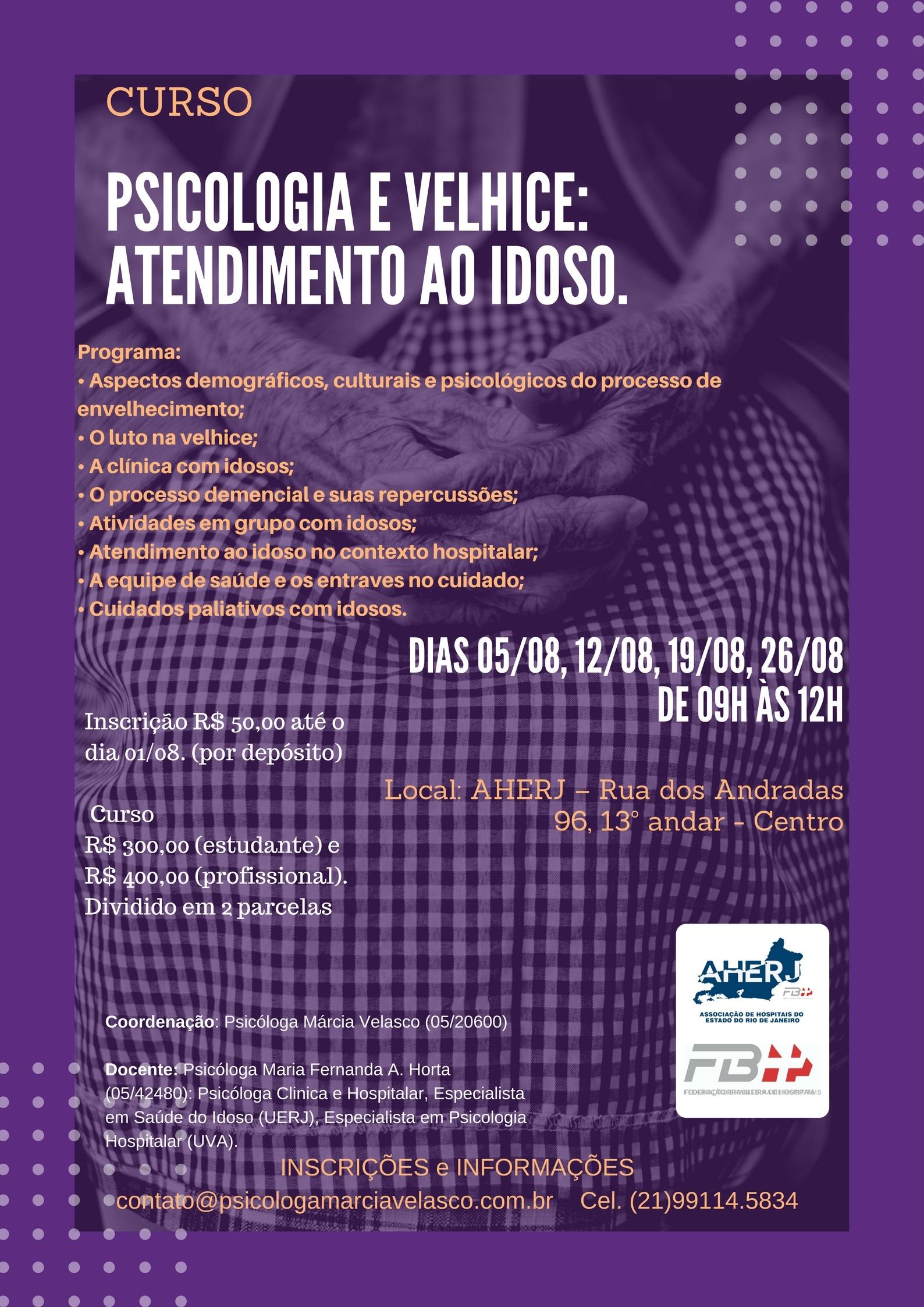 Curso Psicologia e Velhice: Atendimento ao Idoso