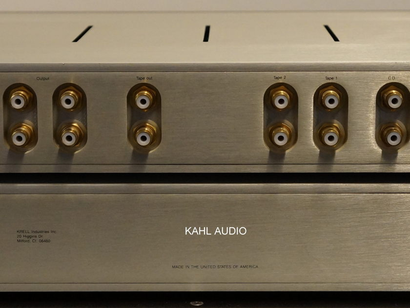Krell KRS-2 3-chassis preamp w/phono. Stereophile recommended! $4,500 MS