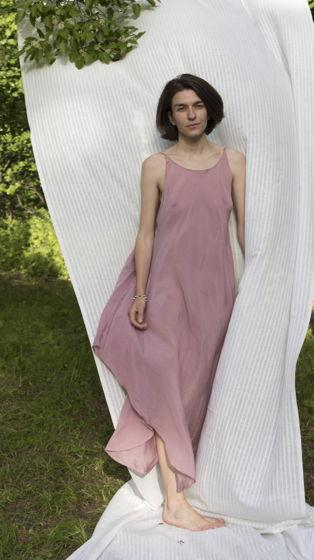 """Летящее летнее платье """"Конечно"""" пыльный розовый"""