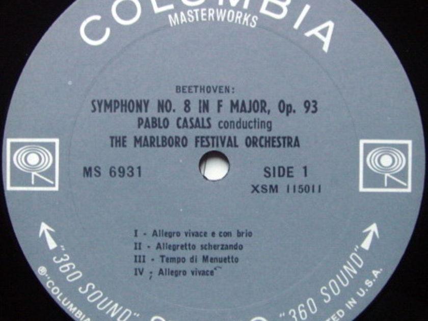 Columbia 2-EYE / PABLO CASALS, - Beethoven Symphony No.8 & Medelssohn No.4 Italian, MINT!