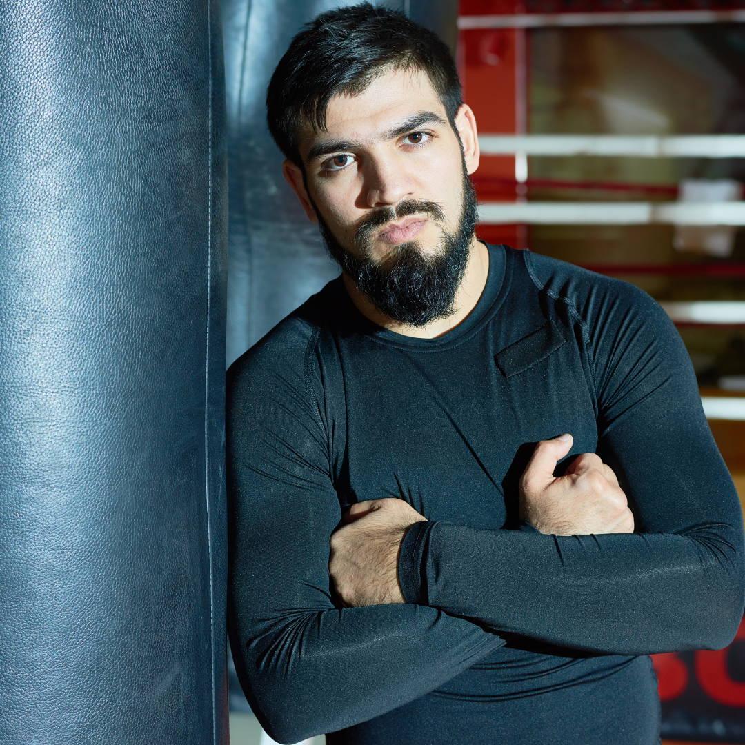British boxer with beard confidence Man Made Beard Company