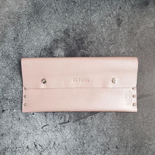 Косметичка из кожи Summer Pink
