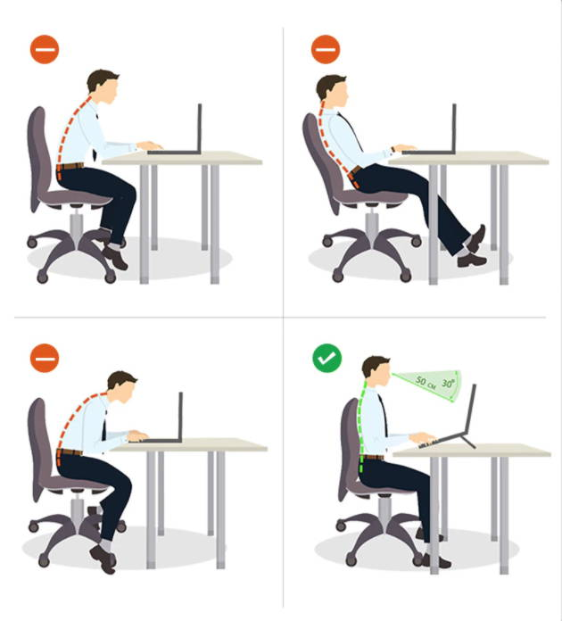 Ergonomic Design, easy height adjustment, easy operation, protect your back pain