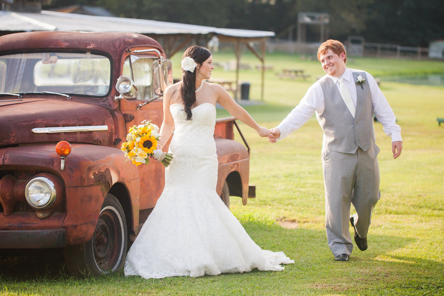 Walks to the creek turn into a rustic sentimental wedding day