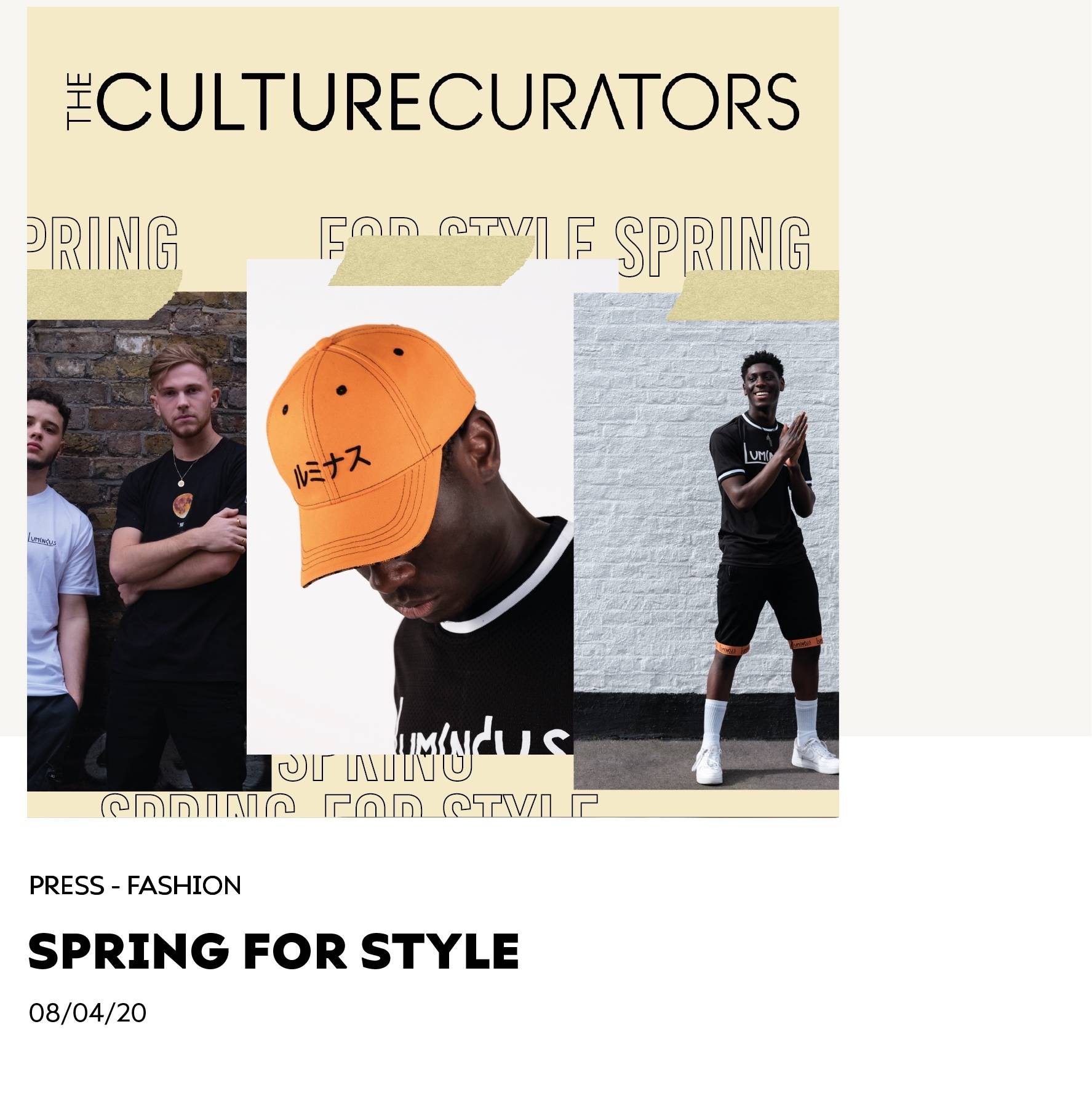 Spring For Style - The Culture Curators