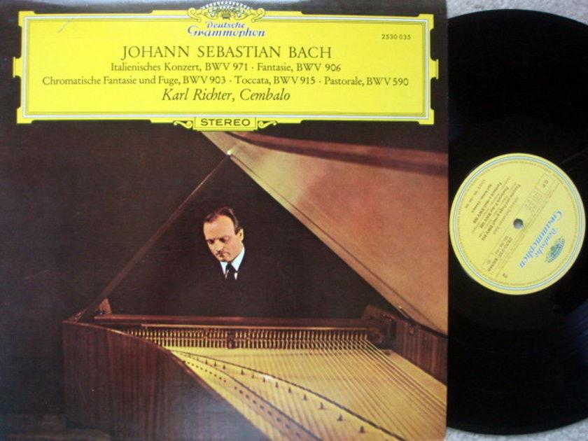 DG / KARL RICHTER, - Bach Works for Harpsichord, NM!