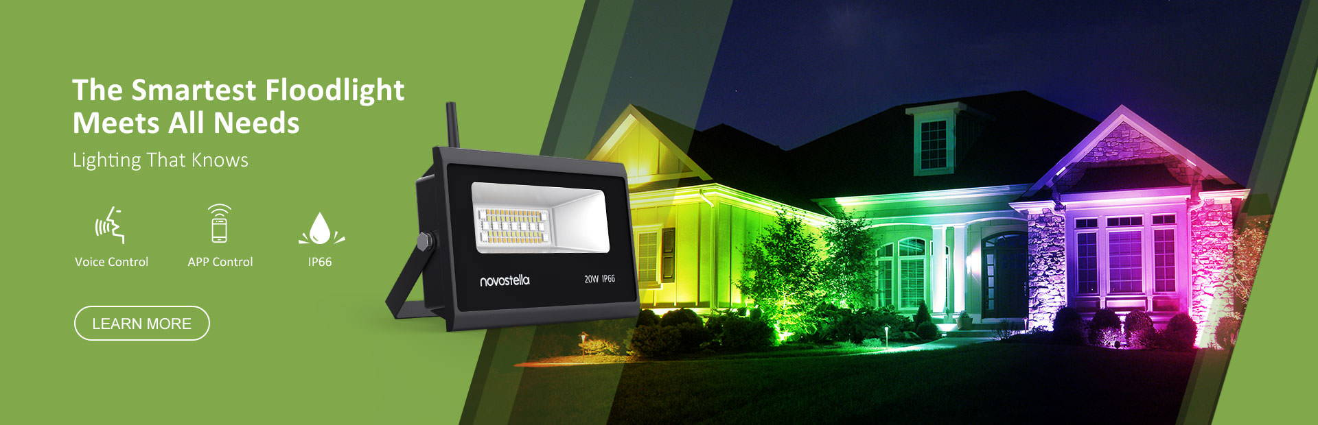 smart LED floodlight