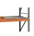 solid steel decking on pallet rack