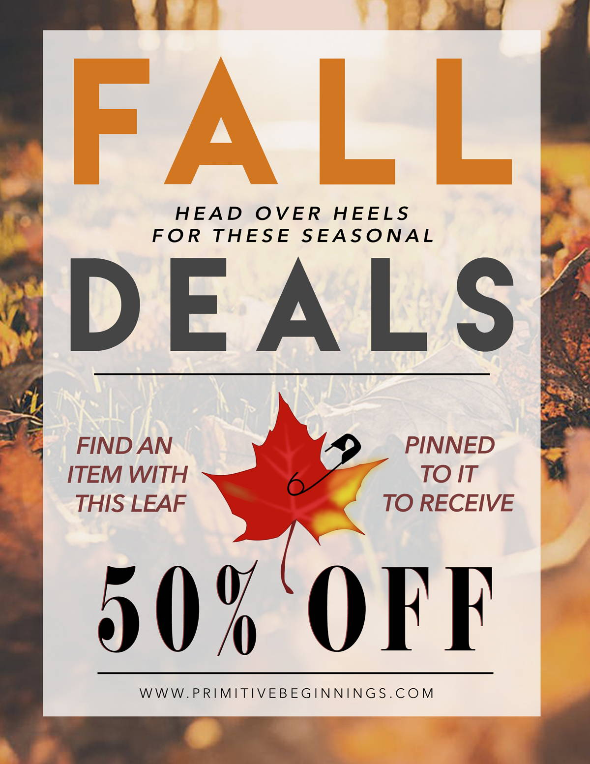 Primitive Beginnings Fall Flash Sale