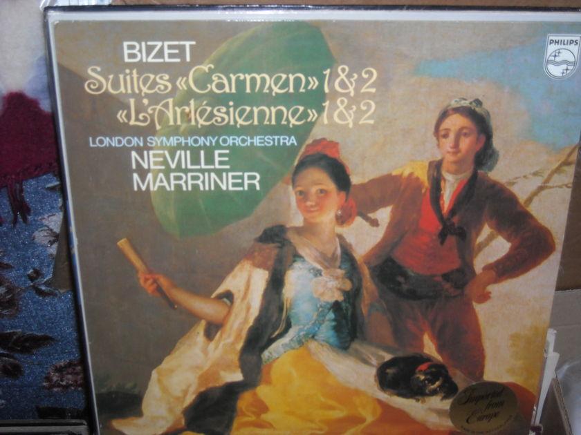 """(lec) Bizet - Suites """"Carmen"""" 1&2 - L'Arlesienne 1&2 Philips  LP (c)"""