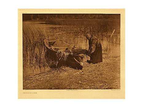 "Edward Sheriff Curtis. ""Tule Gatherer,"" Plate 315 from Portfolio 9 of ""The North American Indian"""