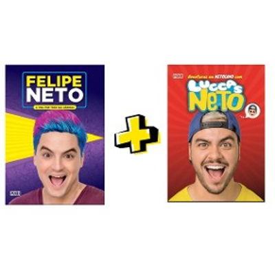 COMBO 2 LIVROS FELIPE NETO+LUCCAS NETO