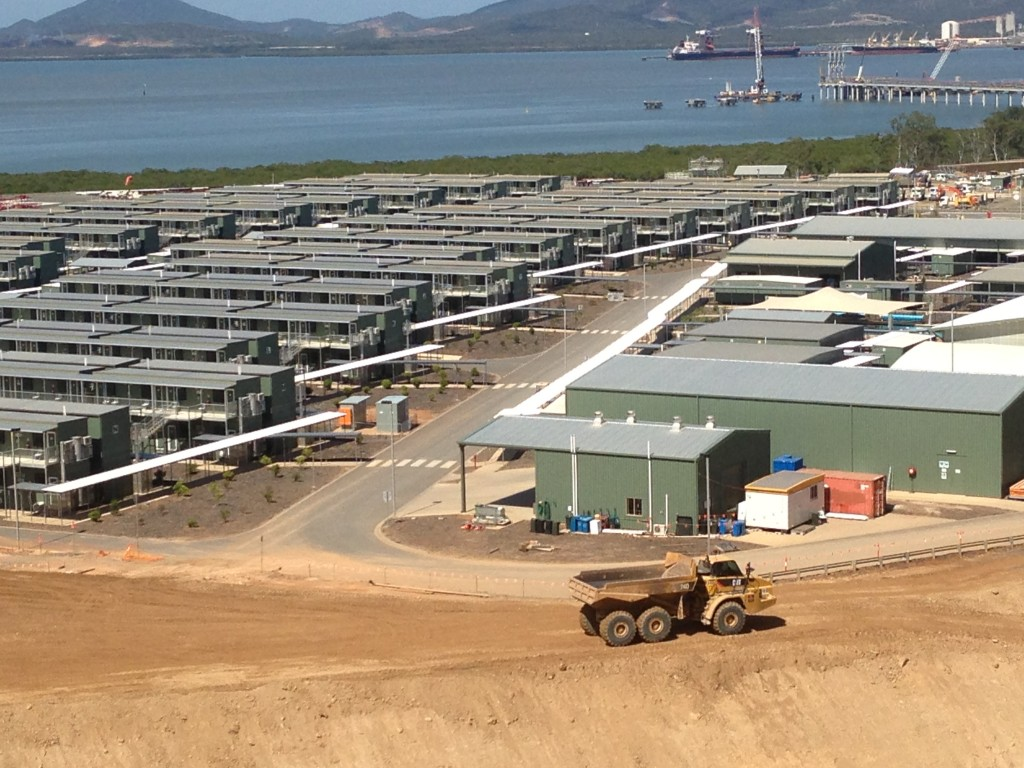 The temporary accomodation facility could hold up to 1600 workers