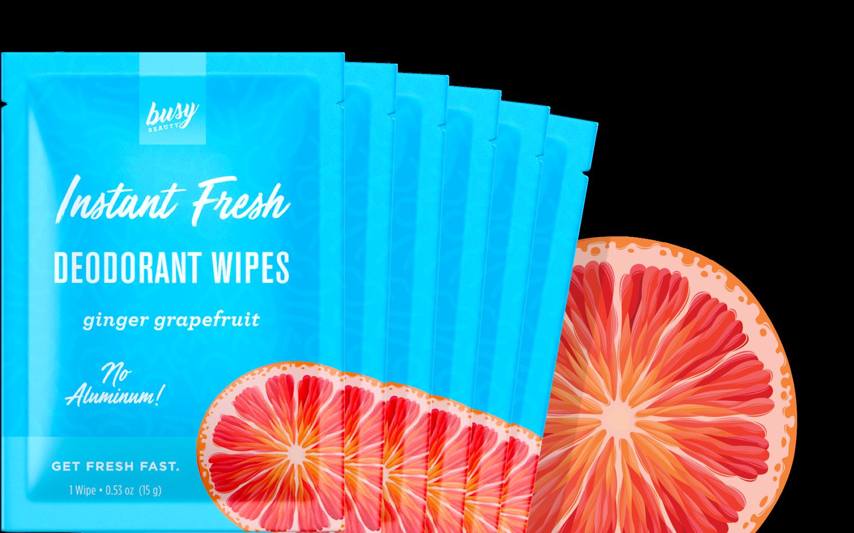 Ginger Grapefruit Deodorant Wipes