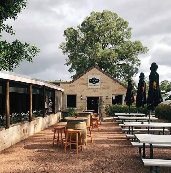 Outside courtyard at Blaxland Inn Hunter Valley Restaurant Hunter Valley Winery