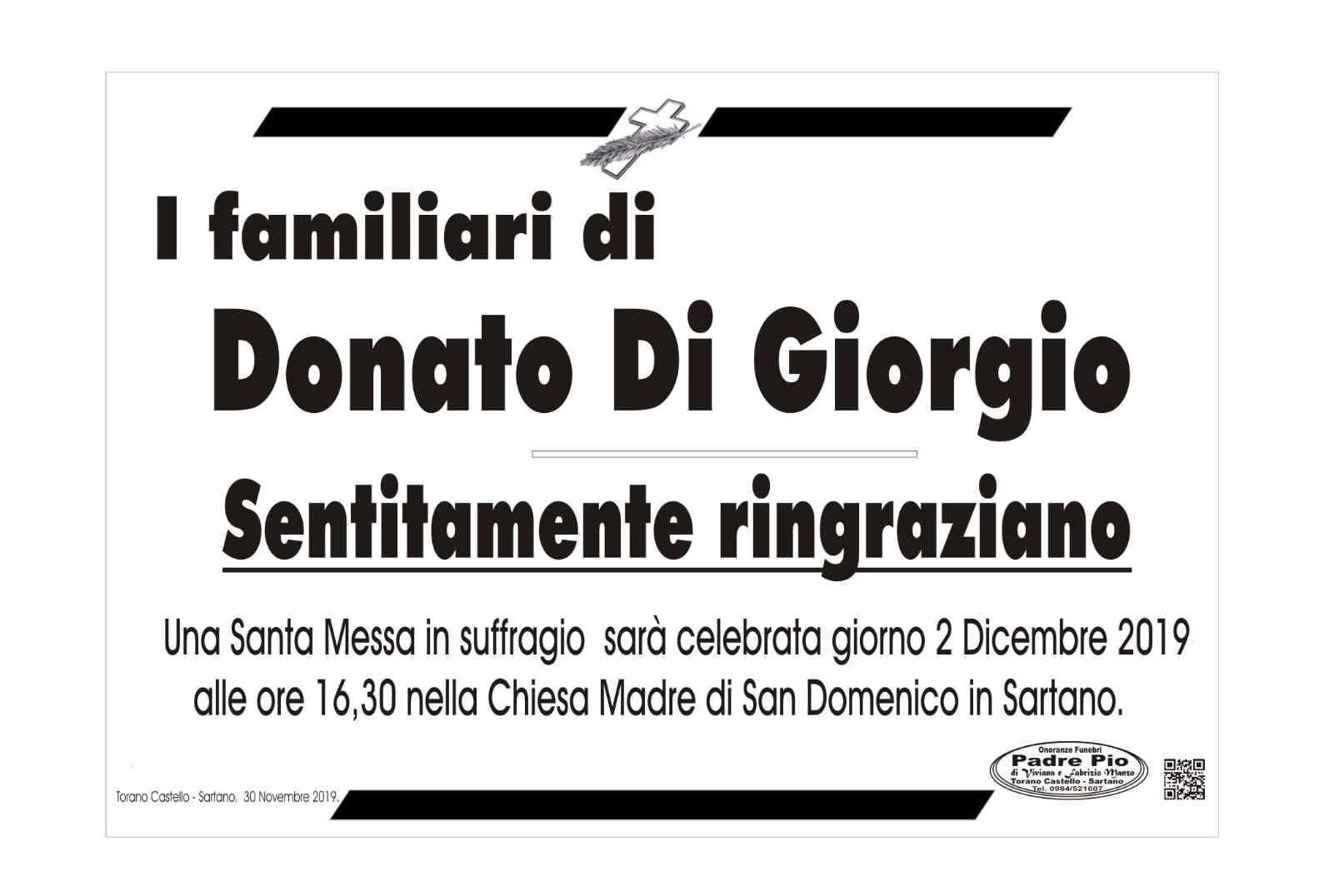 I familiari di Donato Di Giorgio