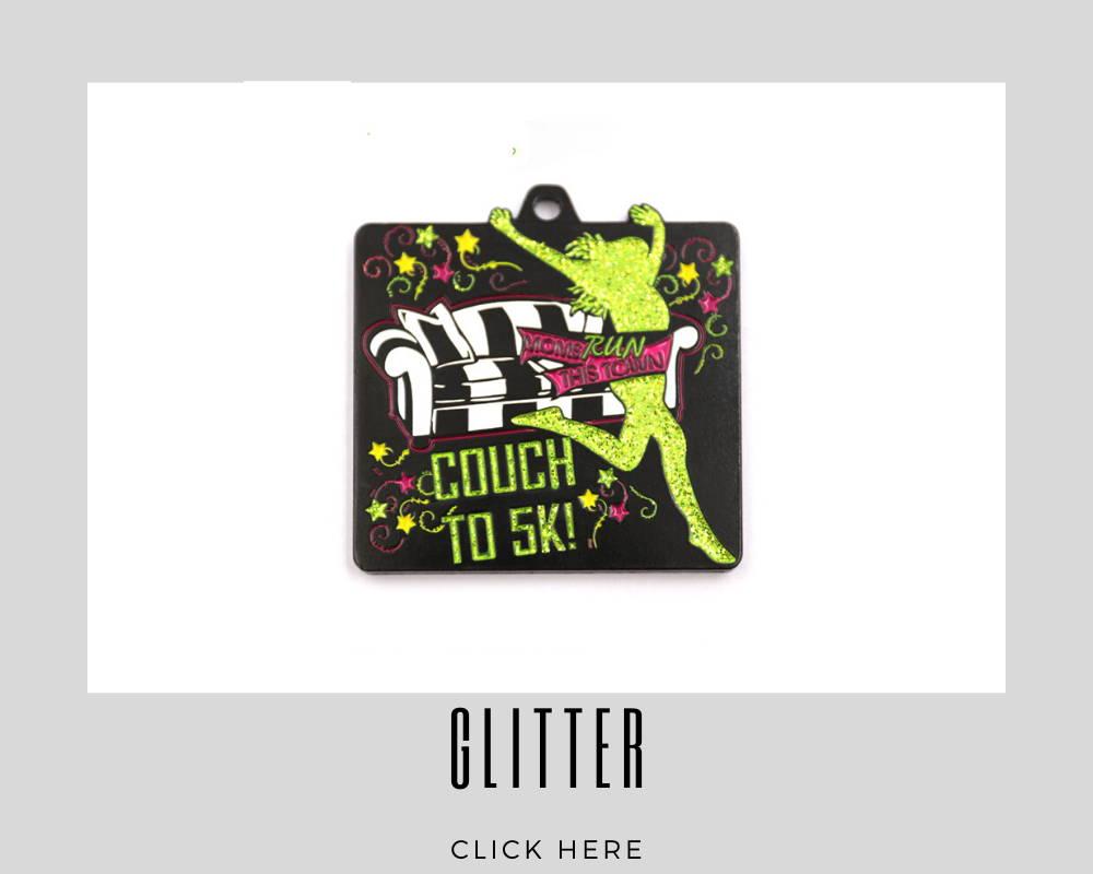 Custom Glitter Corporate Medallions