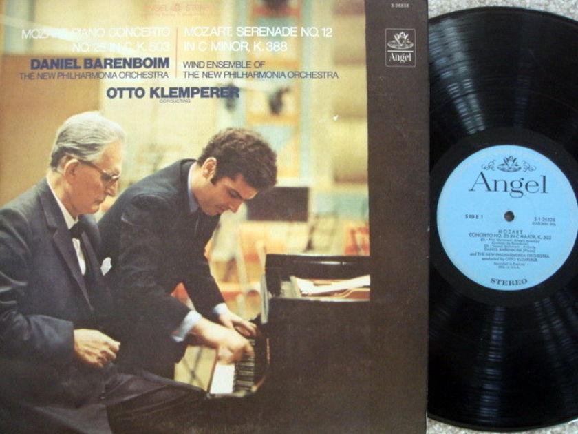 EMI Angel Blue / BARENBOIM-KLEMPERER, - Mozart Piano Concerto No.25, EX!