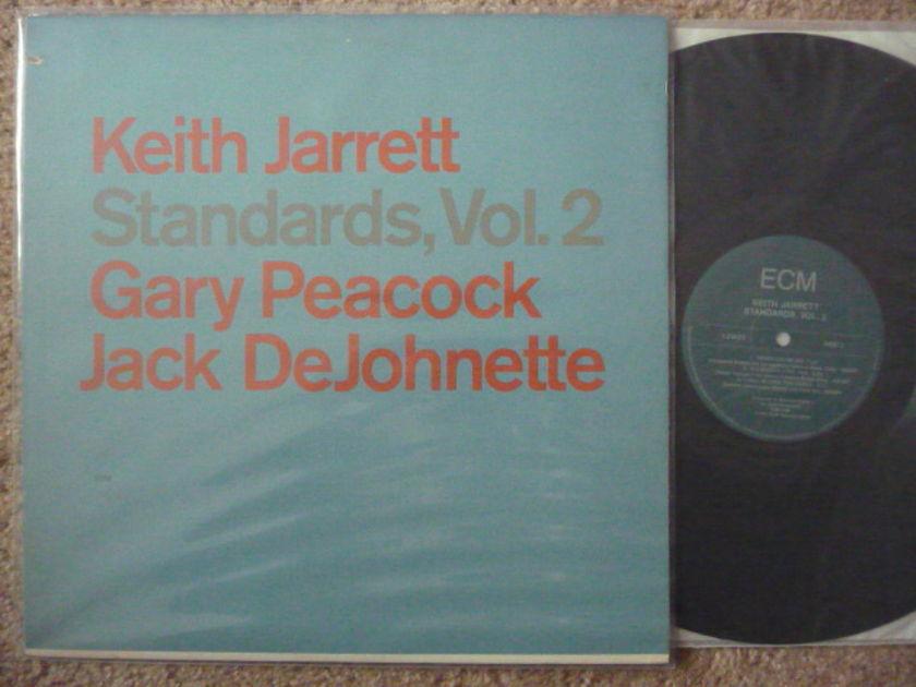 KEITH JARRETT GARY PEACOCT - JACK DEJOHNETTE STANDARD VOL2 ECM LP EXCELLENT LOW