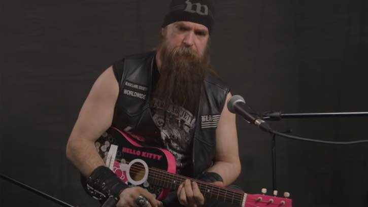 Zakk Wylde Plays Black Sabbath On 1962 Hello Kitty Guitar