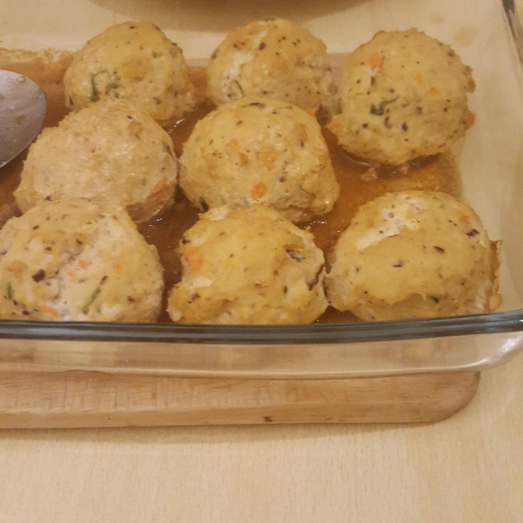 Pipa tofu and turkey mince balls