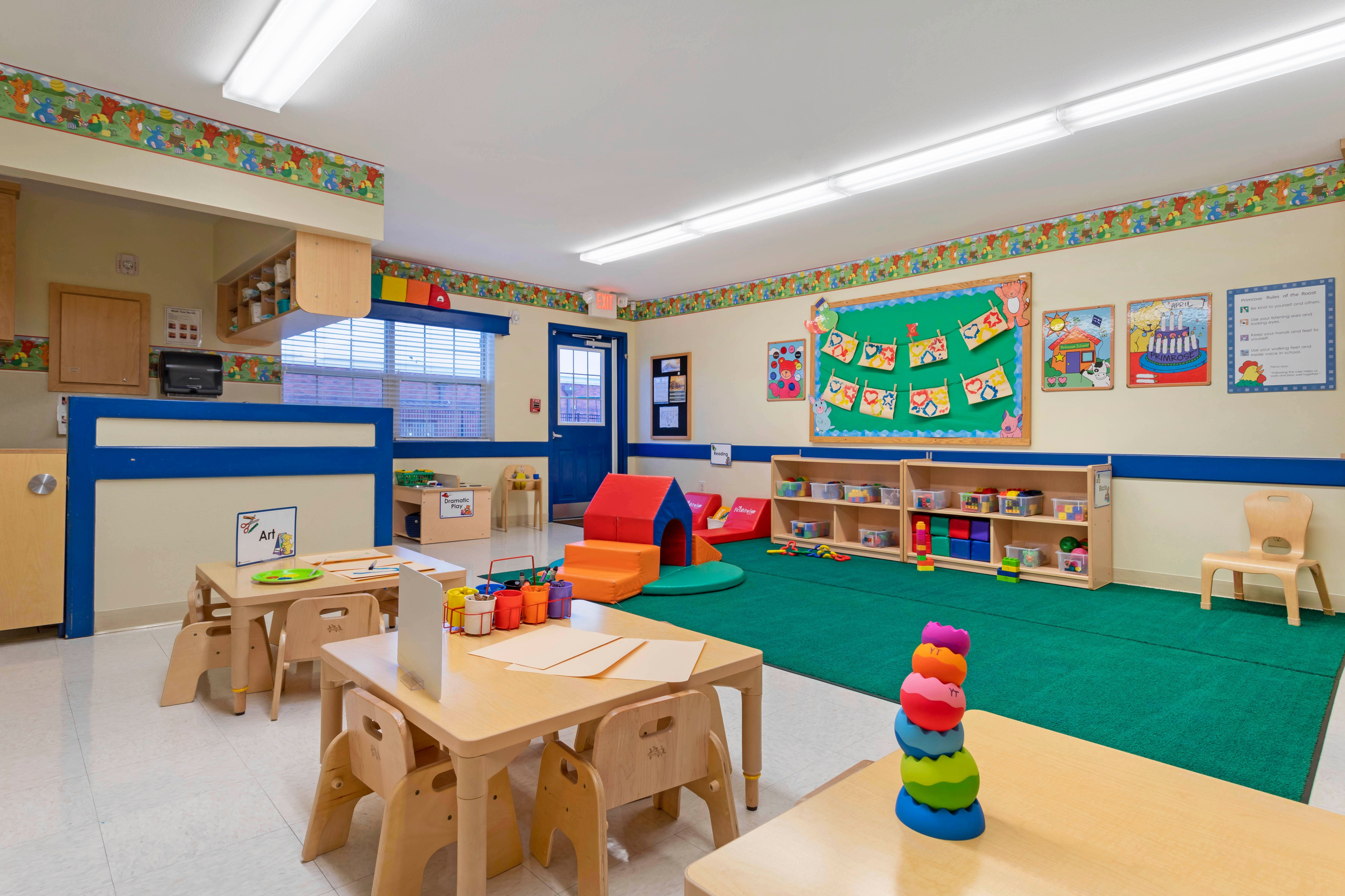 Primrose School of Clear Lake inside classrooms, virtual tour, daycare child care in Clear Lake, TX 77062