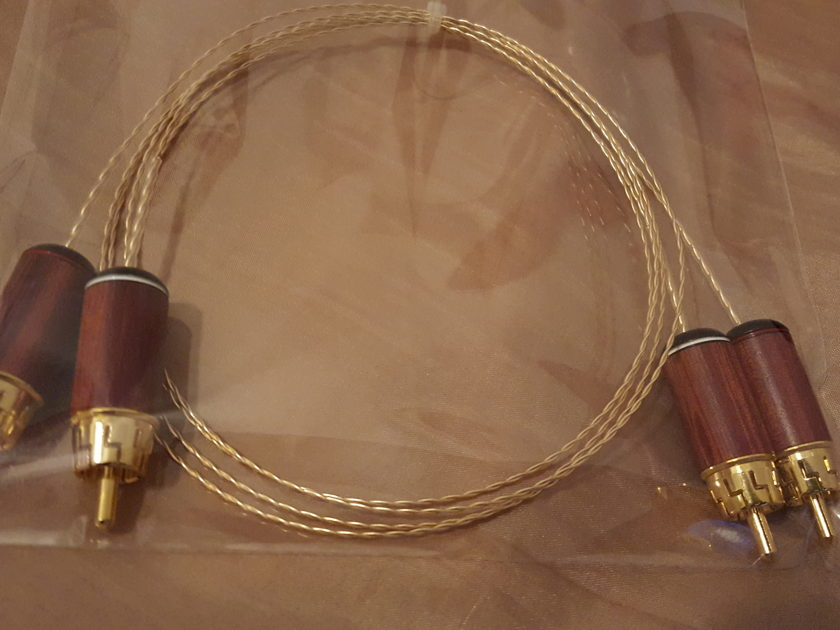 ELF Custom Cables Super Helix Gold 24K Gold/OCC interconnects