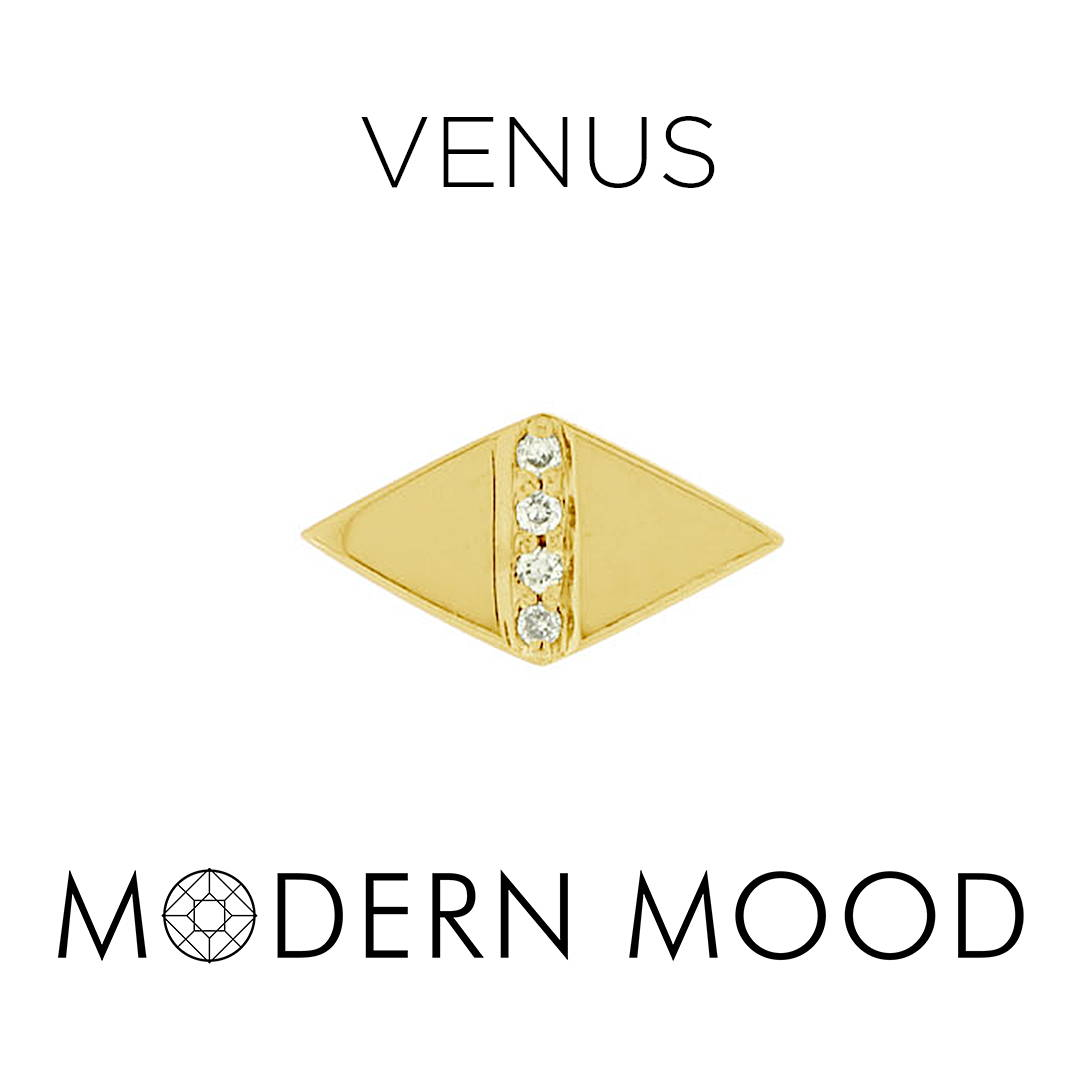 venus diamond piercing jewelry