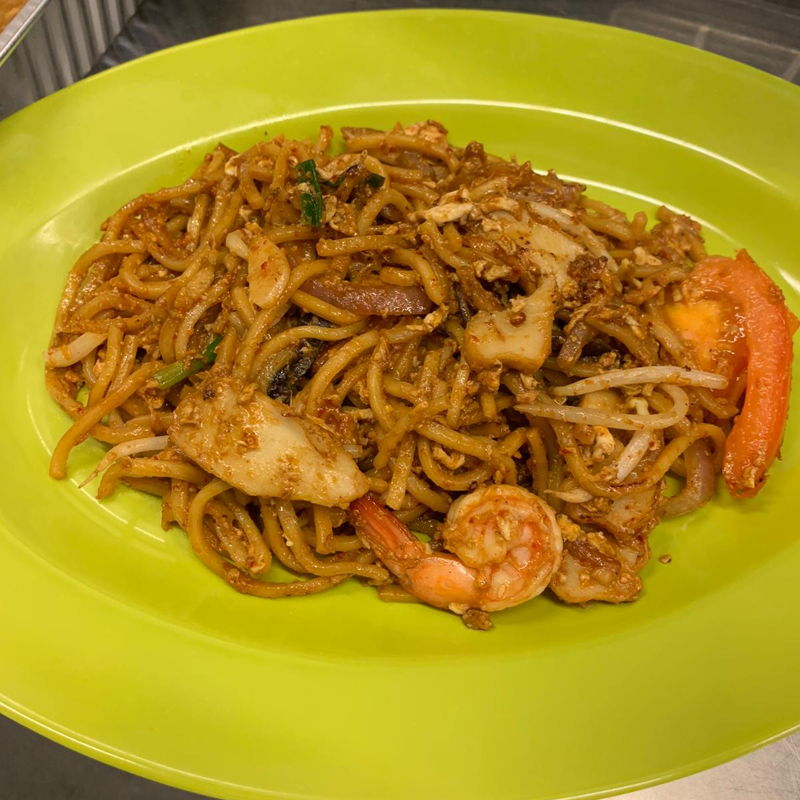 This plate of mee goreng was my assessment test in school Sunrice  GlobalChef  Academy. Forget to put calamansi lime haha . Yummy finish on the spot after marking .LOL !!! Thank you to my Mentor Chef Fairos