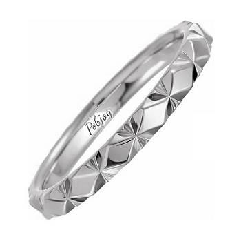 Designer wedding rings for her in platinum and  18 carat gold - Pobjoy Diamonds in Surrey