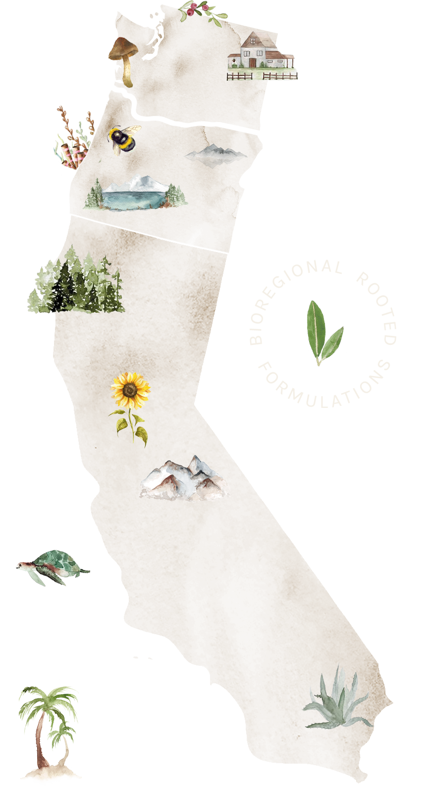 Bioregional Map of Washington, Oregon and California