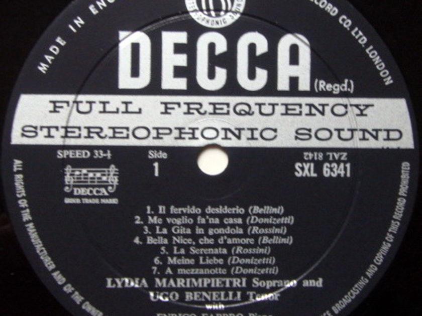 DECCA SXL-WB-ED2 / MARIMPIETRI-BENELLI, - Rossini-Bellini-Donizetti Songs, NM!