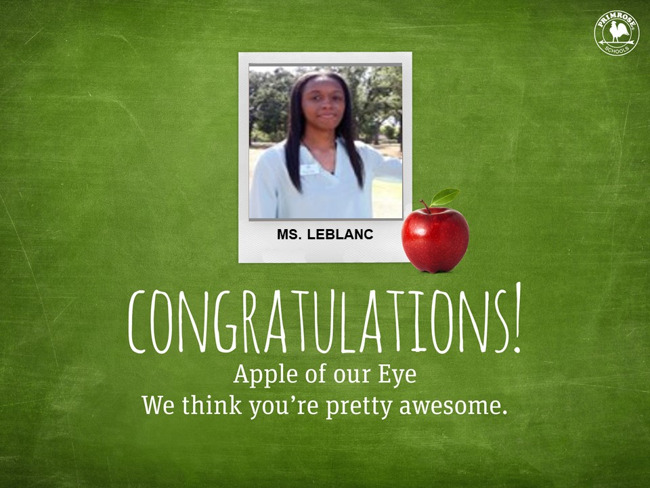 Congratulations on being our December Apple of Our Eye!