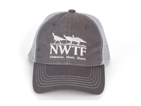 Cap Charcoal with Grey Mesh Back and NWTF Logo