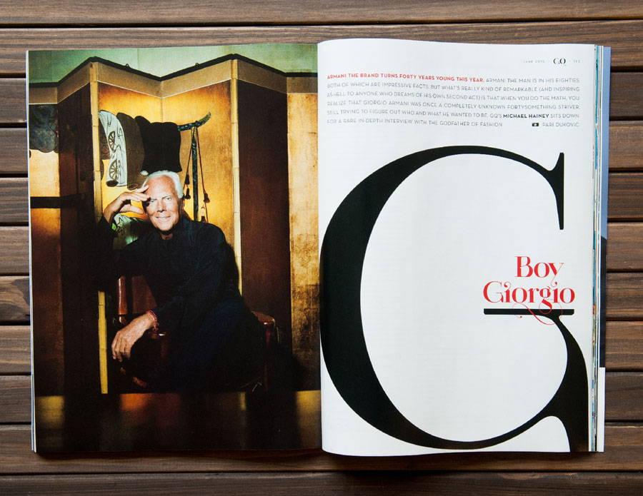 Paris Pro Typeface in GQ fashion magazine