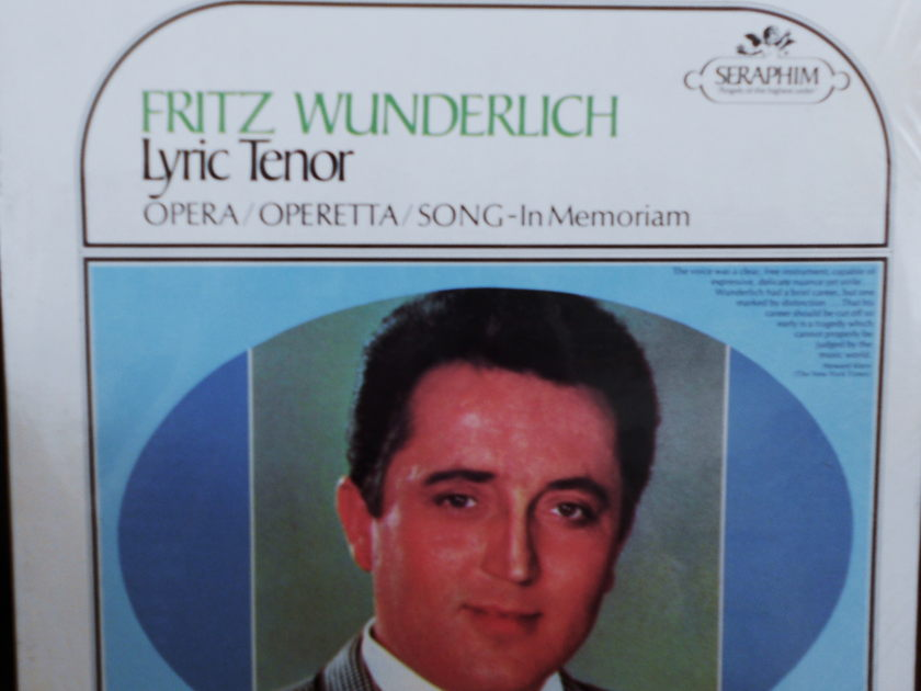 FACTORY SEALED ~ FRITZ WUNDERLICH ~  - LYRIC TENOR~OPERETTA SONG IN MEMORIAM ~ SERAPHIM 60043 (1966)