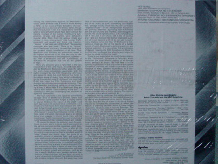★Sealed★ RCA Victrola / TOSCANINI, - Beethoven Symphony No.5,  Schubert No.8 Unfinished!