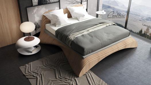 Стильная кровать из натуральных материалов