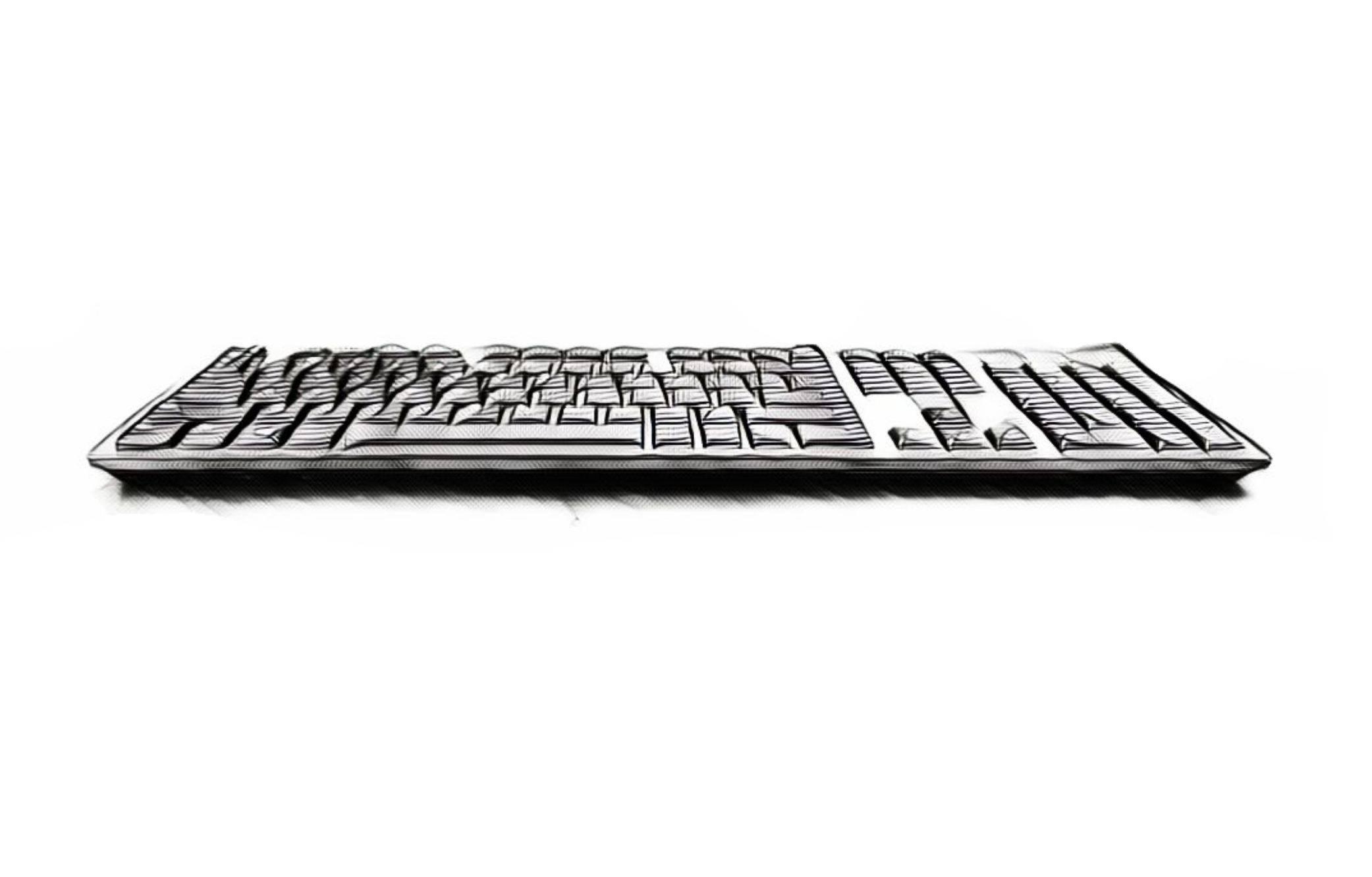standard flat keyboard