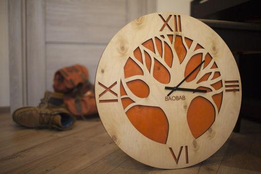 """Настенные часы из дерева """"African Tree"""""""