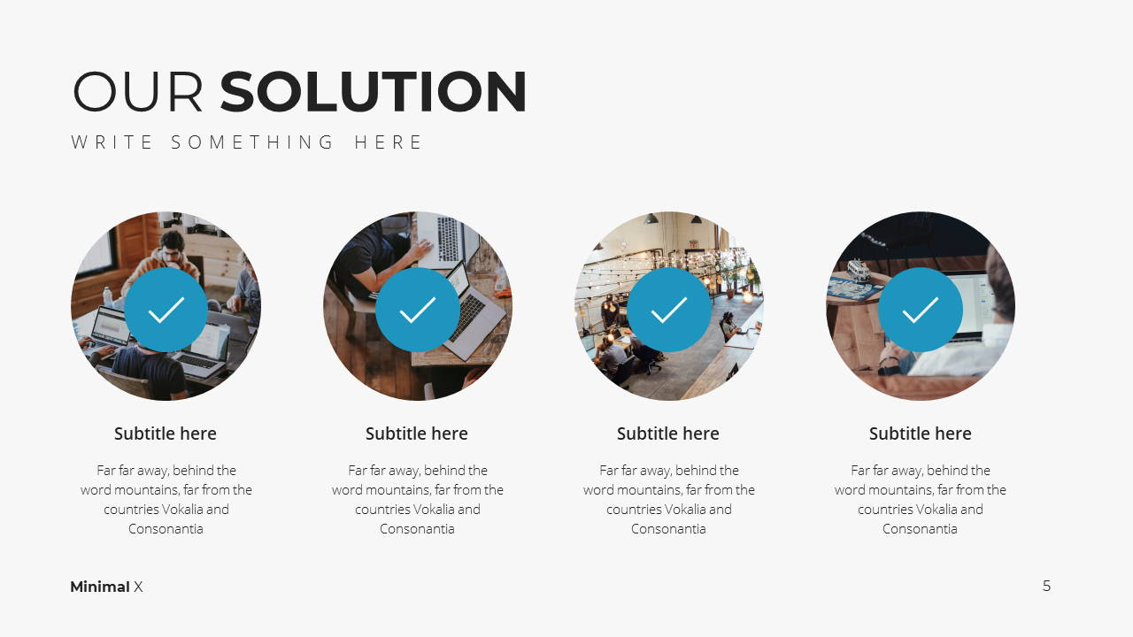 Minimal X Project Proposal Presentation Template Solutions