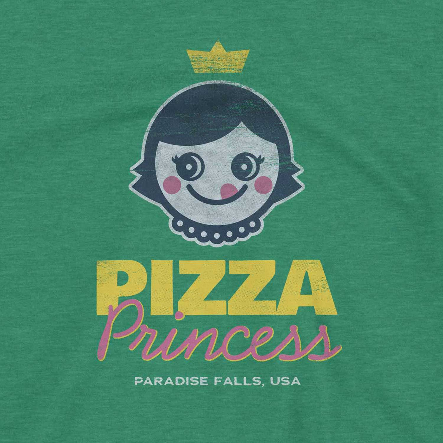 Pizza Princess Retro Inspired Unisex Graphic T Shirt